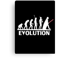 evolution from monkey to human Canvas Print
