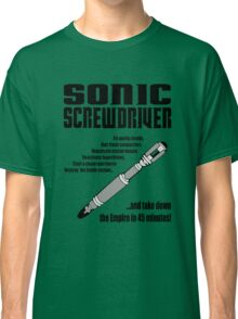 Sonic Screwdriver taking down the Empire Classic T-Shirt
