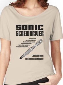 Sonic Screwdriver taking down the Empire Women's Relaxed Fit T-Shirt