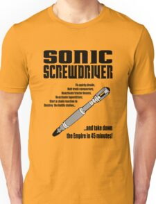 Sonic Screwdriver taking down the Empire Unisex T-Shirt