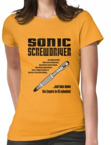 Sonic Screwdriver taking down the Empire Womens Fitted T-Shirt