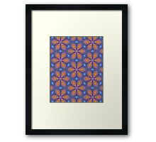 Knitted Flowers Pattern Framed Print