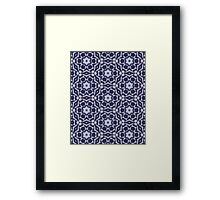 Knitted Tiles Pattern Framed Print