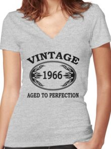 vintage 1966 aged to perfection Women's Fitted V-Neck T-Shirt