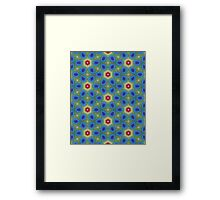 Round Flowers Pattern Framed Print