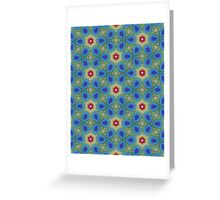Round Flowers Pattern Greeting Card