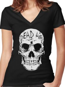 Human Skull 1 - Goth -Gothic Women's Fitted V-Neck T-Shirt