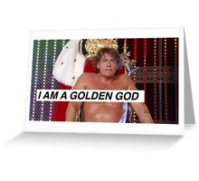 Regal Golden God Greeting Card