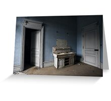 Washroom, Chateau Lumiere, France Greeting Card