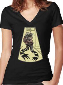 Masters of Bearror - NightBear on Elm Street Women's Fitted V-Neck T-Shirt