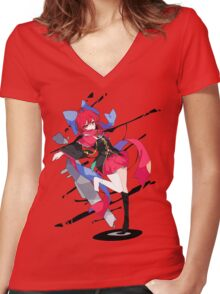 Touhou - Sekibanki Women's Fitted V-Neck T-Shirt