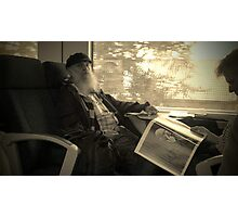 The Old Man on the Train Photographic Print