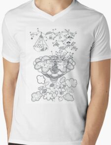 Living room - Life in flowers Mens V-Neck T-Shirt