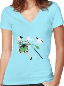 Touhou - Youmu Konpaku Women's Fitted V-Neck T-Shirt
