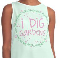 I dig gardens (wreath) Contrast Tank