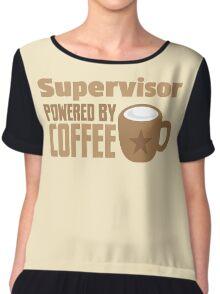 supervisor powered by coffee Chiffon Top