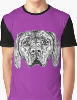 Pointer Dog Ink Drawing Graphic T-Shirt