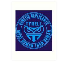 TYRELL CORPORATION - BLADE RUNNER (BLUE) Art Print