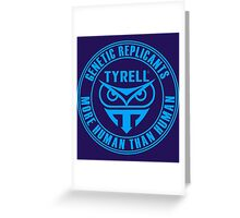 TYRELL CORPORATION - BLADE RUNNER (BLUE) Greeting Card