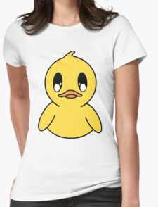 Delicate Ducky Womens Fitted T-Shirt