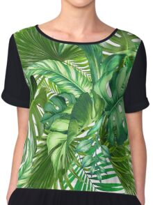 green tropic  Chiffon Top