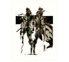 Metal Gear Solid - Solid & Liquid Snake Art Print
