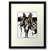 Metal Gear Solid - Solid & Liquid Snake Framed Print