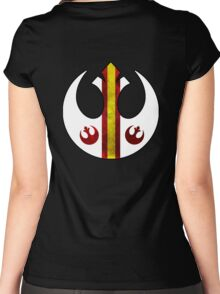 Rebel Alliance Starbird Flight Patern Women's Fitted Scoop T-Shirt