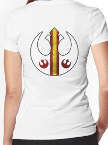 Rebel Alliance Starbird Flight Patern Women's Fitted V-Neck T-Shirt