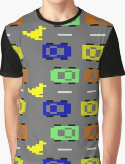 ATARI FREEWAY CAR TRAFFIC Graphic T-Shirt