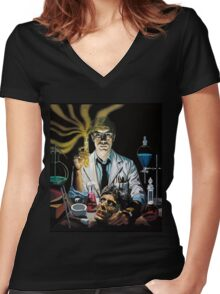 Re-Animator science fiction cover Women's Fitted V-Neck T-Shirt