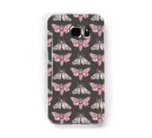 Moth pattern on dark grey Samsung Galaxy Case/Skin
