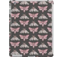 Moth pattern on dark grey iPad Case/Skin