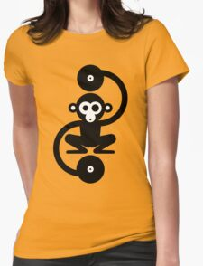 Monkey Music Womens Fitted T-Shirt