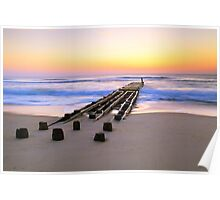 Old Ocean Pier at Dawn, Outer Banks, North Carolina Poster