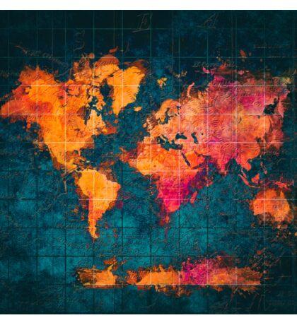 world map art series Sticker