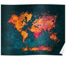 world map art series Poster