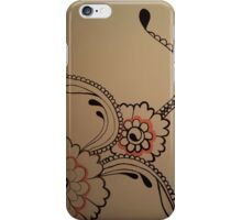 Black and Coral flowers iPhone Case/Skin