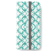 Turquoise Circular Venetian Tile Pattern iPhone Wallet/Case/Skin