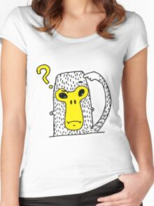 Asking monkey Women's Fitted Scoop T-Shirt