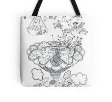 Living room - Life in flowers Tote Bag