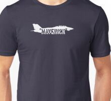 """Maverick (white version)"", Top Gun inspired Unisex T-Shirt"
