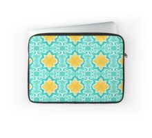 Yellow Venetian Tile Pattern Laptop Sleeve