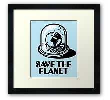 World Snow Globe - Save the Planet Framed Print