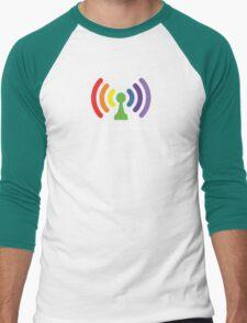 Bi-Fi (DARK BG) Men's Baseball ¾ T-Shirt