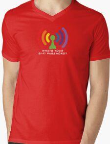 Bi-Fi (DARK BG) Mens V-Neck T-Shirt