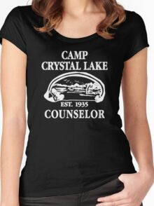 Camp Crystal Lake Counselor copy Women's Fitted Scoop T-Shirt