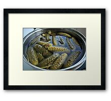 salted cucumbers Framed Print