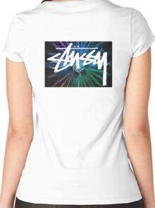 Stussy Kaleidoscope Women's Fitted Scoop T-Shirt