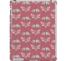 Moth pattern on light red iPad Case/Skin